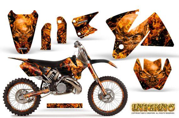 KTM C2 Graphics Kit Inferno Orange NP Rims 570x376 - KTM C2 SX 1998-2000 125-520 EXC Graphics