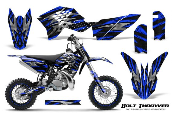 KTM SX50 09 14 Graphics Kit Bolt Thrower Blue NP Rims 570x376 - KTM SX 50 Adventurer Jr Sr 2009-2015 Graphics