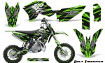 KTM SX50 09 14 Graphics Kit Bolt Thrower Green NP Rims 150x90 - KTM SX 50 Adventurer Jr Sr 2009-2015 Graphics