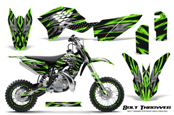 KTM SX50 09 14 Graphics Kit Bolt Thrower Green NP Rims 570x376 - KTM SX 50 Adventurer Jr Sr 2009-2015 Graphics