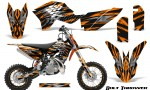 KTM SX50 09 14 Graphics Kit Bolt Thrower Orange NP Rims 150x90 - KTM SX 50 Adventurer Jr Sr 2009-2015 Graphics