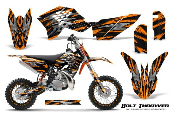KTM SX50 09 14 Graphics Kit Bolt Thrower Orange NP Rims 570x376 - KTM SX 50 Adventurer Jr Sr 2009-2015 Graphics