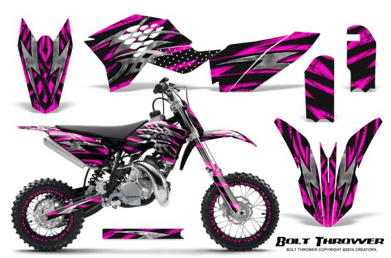 KTM SX50 09 14 Graphics Kit Bolt Thrower Pink NP Rims 570x376 - KTM SX 50 Adventurer Jr Sr 2009-2015 Graphics