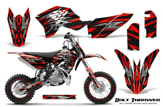 KTM SX50 09 14 Graphics Kit Bolt Thrower Red NP Rims 570x376 - KTM SX 50 Adventurer Jr Sr 2009-2015 Graphics
