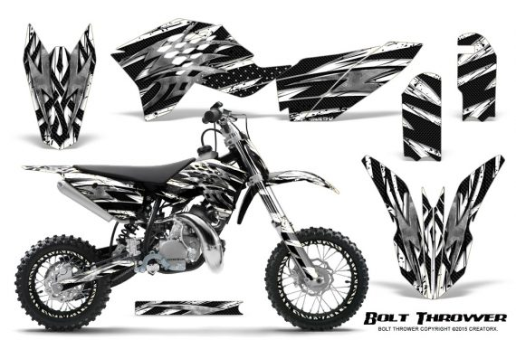 KTM SX50 09 14 Graphics Kit Bolt Thrower White NP Rims 570x376 - KTM SX 50 Adventurer Jr Sr 2009-2015 Graphics