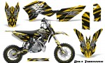 KTM SX50 09 14 Graphics Kit Bolt Thrower Yellow NP Rims 150x90 - KTM SX 50 Adventurer Jr Sr 2009-2015 Graphics
