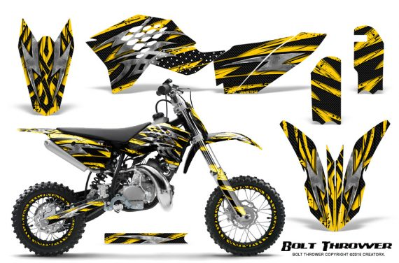 KTM SX50 09 14 Graphics Kit Bolt Thrower Yellow NP Rims 570x376 - KTM SX 50 Adventurer Jr Sr 2009-2015 Graphics
