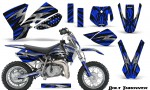 KTM SX50 CreatorX Graphics Kit Bolt Thrower Blue 150x90 - KTM SX 50 Adventurer Jr Sr 2002-2008 Graphics
