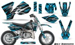 KTM SX50 CreatorX Graphics Kit Bolt Thrower BlueIce 150x90 - KTM SX 50 Adventurer Jr Sr 2002-2008 Graphics