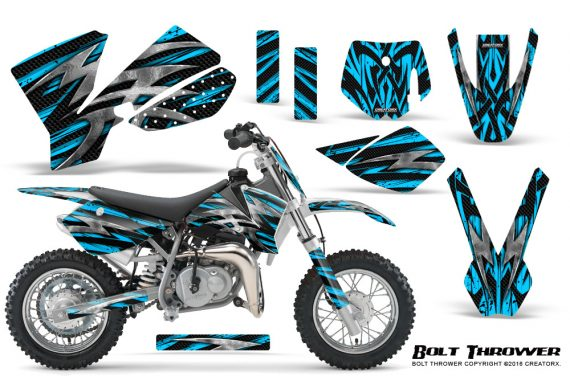 KTM SX50 CreatorX Graphics Kit Bolt Thrower BlueIce 570x376 - KTM SX 50 Adventurer Jr Sr 2002-2008 Graphics
