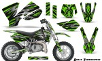 KTM SX50 CreatorX Graphics Kit Bolt Thrower Green 150x90 - KTM SX 50 Adventurer Jr Sr 2002-2008 Graphics