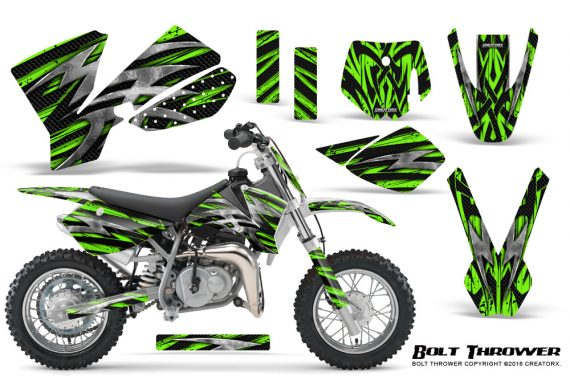 KTM SX50 CreatorX Graphics Kit Bolt Thrower Green 570x376 - KTM SX 50 Adventurer Jr Sr 2002-2008 Graphics