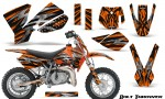 KTM SX50 CreatorX Graphics Kit Bolt Thrower Orange 150x90 - KTM SX 50 Adventurer Jr Sr 2002-2008 Graphics