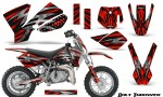 KTM SX50 CreatorX Graphics Kit Bolt Thrower Red 150x90 - KTM SX 50 Adventurer Jr Sr 2002-2008 Graphics