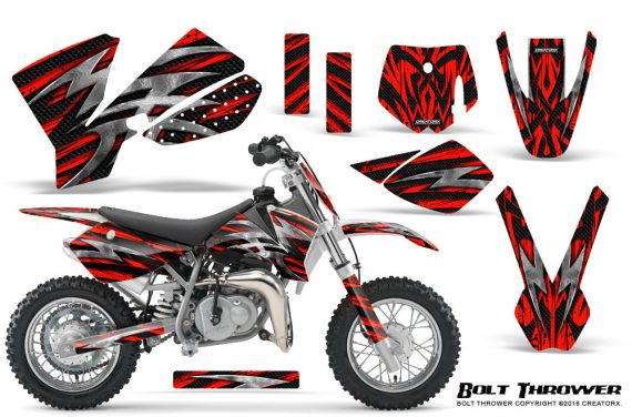 KTM SX50 CreatorX Graphics Kit Bolt Thrower Red 570x376 - KTM SX 50 Adventurer Jr Sr 2002-2008 Graphics