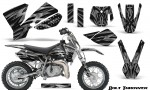 KTM SX50 CreatorX Graphics Kit Bolt Thrower Silver 150x90 - KTM SX 50 Adventurer Jr Sr 2002-2008 Graphics