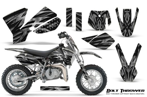 KTM SX50 CreatorX Graphics Kit Bolt Thrower Silver 570x376 - KTM SX 50 Adventurer Jr Sr 2002-2008 Graphics
