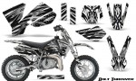KTM SX50 CreatorX Graphics Kit Bolt Thrower White 150x90 - KTM SX 50 Adventurer Jr Sr 2002-2008 Graphics