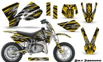 KTM SX50 CreatorX Graphics Kit Bolt Thrower Yellow 150x90 - KTM SX 50 Adventurer Jr Sr 2002-2008 Graphics