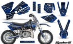 KTM SX50 CreatorX Graphics Kit SpiderX Blue 150x90 - KTM SX 50 Adventurer Jr Sr 2002-2008 Graphics