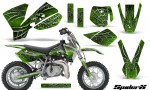 KTM SX50 CreatorX Graphics Kit SpiderX Green 150x90 - KTM SX 50 Adventurer Jr Sr 2002-2008 Graphics