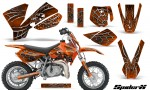 KTM SX50 CreatorX Graphics Kit SpiderX Orange 150x90 - KTM SX 50 Adventurer Jr Sr 2002-2008 Graphics