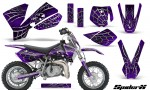 KTM SX50 CreatorX Graphics Kit SpiderX Purple 150x90 - KTM SX 50 Adventurer Jr Sr 2002-2008 Graphics