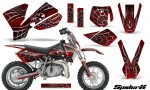 KTM SX50 CreatorX Graphics Kit SpiderX Red 150x90 - KTM SX 50 Adventurer Jr Sr 2002-2008 Graphics