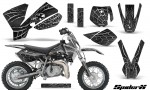 KTM SX50 CreatorX Graphics Kit SpiderX Silver 150x90 - KTM SX 50 Adventurer Jr Sr 2002-2008 Graphics