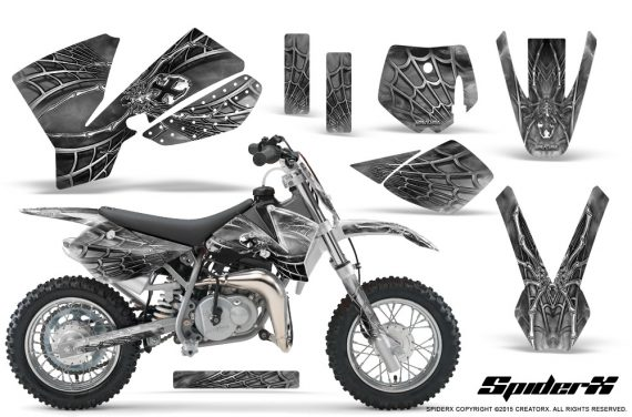 KTM SX50 CreatorX Graphics Kit SpiderX White 570x376 - KTM SX 50 Adventurer Jr Sr 2002-2008 Graphics