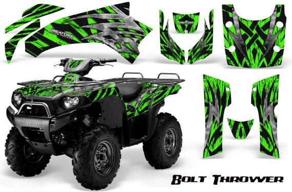 Kawasaki Bruteforce 750 CreatorX Graphics Kit Bolt Thrower Green 570x376 - Kawasaki Brute Force 650i 2006-2012 Graphics