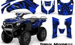 Kawasaki Bruteforce 750 CreatorX Graphics Kit Tribal Madness Blue 150x90 - Kawasaki Brute Force 650i 2006-2012 Graphics