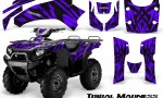 Kawasaki Bruteforce 750 CreatorX Graphics Kit Tribal Madness Purple 150x90 - Kawasaki Brute Force 650i 2006-2012 Graphics