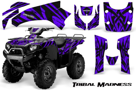 Kawasaki Bruteforce 750 CreatorX Graphics Kit Tribal Madness Purple 570x376 - Kawasaki Brute Force 650i 2006-2012 Graphics