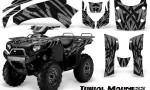 Kawasaki Bruteforce 750 CreatorX Graphics Kit Tribal Madness Silver 150x90 - Kawasaki Brute Force 650i 2006-2012 Graphics
