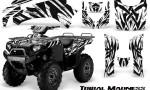 Kawasaki Bruteforce 750 CreatorX Graphics Kit Tribal Madness White 150x90 - Kawasaki Brute Force 650i 2006-2012 Graphics