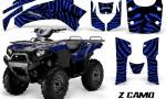 Kawasaki Bruteforce 750 CreatorX Graphics Kit ZCamo Blue 150x90 - Kawasaki Brute Force 650i 2006-2012 Graphics