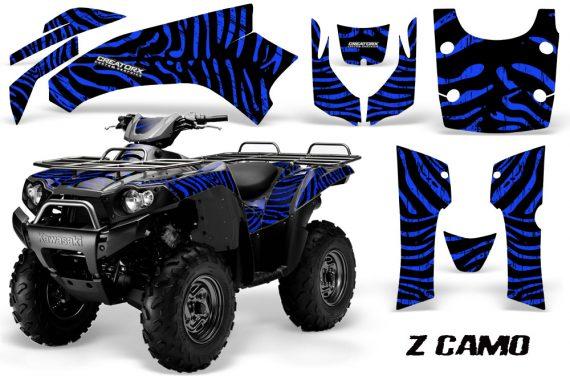 Kawasaki Bruteforce 750 CreatorX Graphics Kit ZCamo Blue 570x376 - Kawasaki Brute Force 650i 2006-2012 Graphics