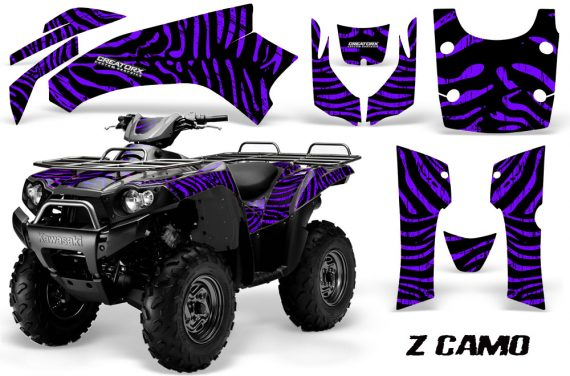 Kawasaki Bruteforce 750 CreatorX Graphics Kit ZCamo Purple 570x376 - Kawasaki Brute Force 650i 2006-2012 Graphics