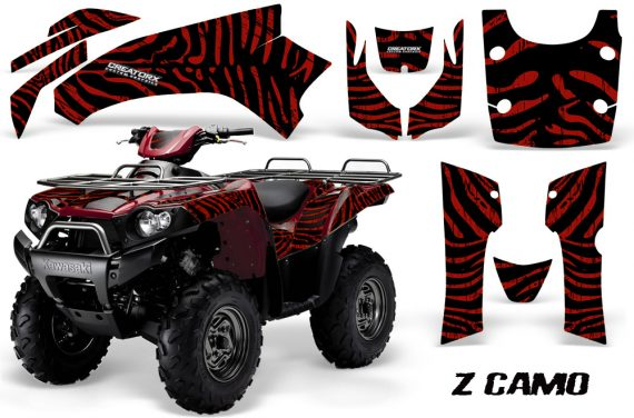 Kawasaki Bruteforce 750 CreatorX Graphics Kit ZCamo Red Dark 570x376 - Kawasaki Brute Force 650i 2006-2012 Graphics