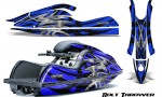 Kawasaki JetSki SX R800 CreatorX Graphics Kit Bolt Thrower Blue 150x90 - Kawasaki 800 SX-R Jet Ski 2003-2012 Graphics