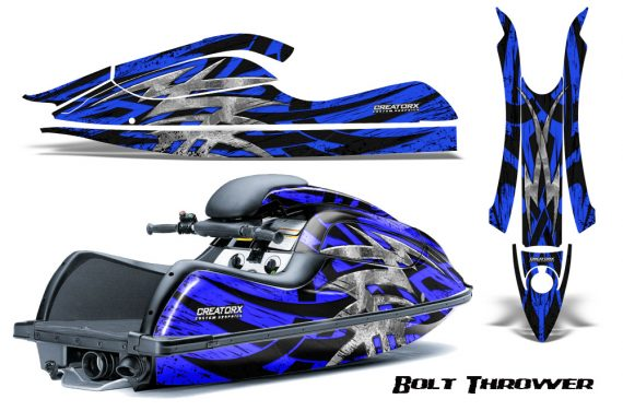 Kawasaki JetSki SX R800 CreatorX Graphics Kit Bolt Thrower Blue 570x376 - Kawasaki 800 SX-R Jet Ski 2003-2012 Graphics