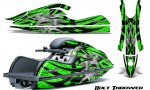 Kawasaki JetSki SX R800 CreatorX Graphics Kit Bolt Thrower Green 150x90 - Kawasaki 800 SX-R Jet Ski 2003-2012 Graphics