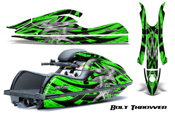 Kawasaki JetSki SX R800 CreatorX Graphics Kit Bolt Thrower Green 570x376 - Kawasaki 800 SX-R Jet Ski 2003-2012 Graphics