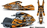 Kawasaki JetSki SX R800 CreatorX Graphics Kit Bolt Thrower Orange 150x90 - Kawasaki 800 SX-R Jet Ski 2003-2012 Graphics