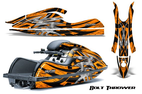 Kawasaki JetSki SX R800 CreatorX Graphics Kit Bolt Thrower Orange 570x376 - Kawasaki 800 SX-R Jet Ski 2003-2012 Graphics
