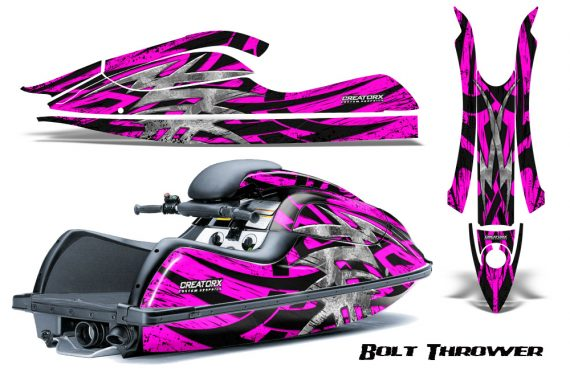 Kawasaki JetSki SX R800 CreatorX Graphics Kit Bolt Thrower Pink 570x376 - Kawasaki 800 SX-R Jet Ski 2003-2012 Graphics