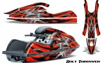 Kawasaki JetSki SX R800 CreatorX Graphics Kit Bolt Thrower Red 150x90 - Kawasaki 800 SX-R Jet Ski 2003-2012 Graphics