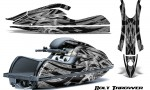 Kawasaki JetSki SX R800 CreatorX Graphics Kit Bolt Thrower Silver 150x90 - Kawasaki 800 SX-R Jet Ski 2003-2012 Graphics