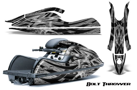 Kawasaki JetSki SX R800 CreatorX Graphics Kit Bolt Thrower Silver 570x376 - Kawasaki 800 SX-R Jet Ski 2003-2012 Graphics